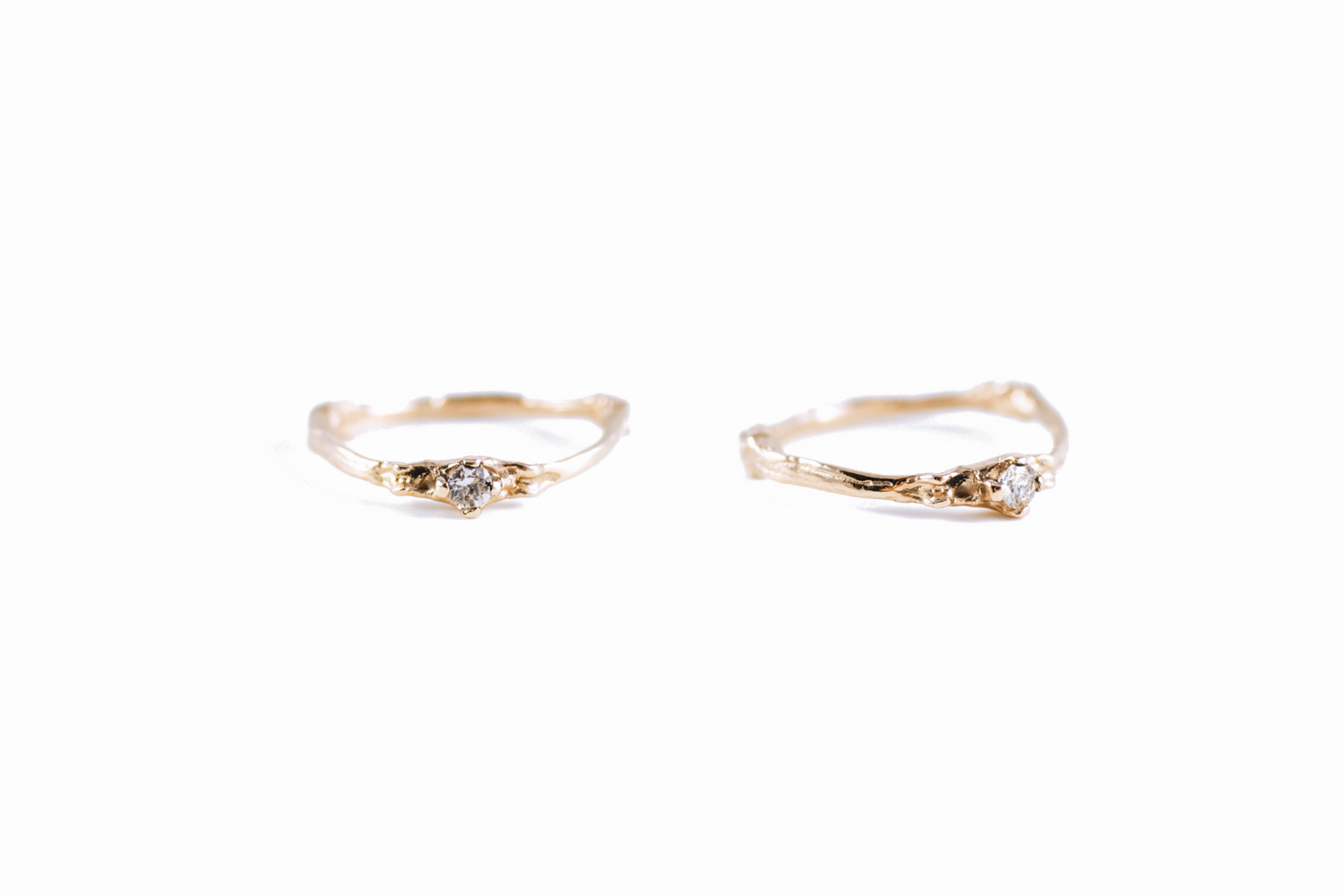 Towers single banded ring // 9ct Rose Gold, white Sapphire (2014)