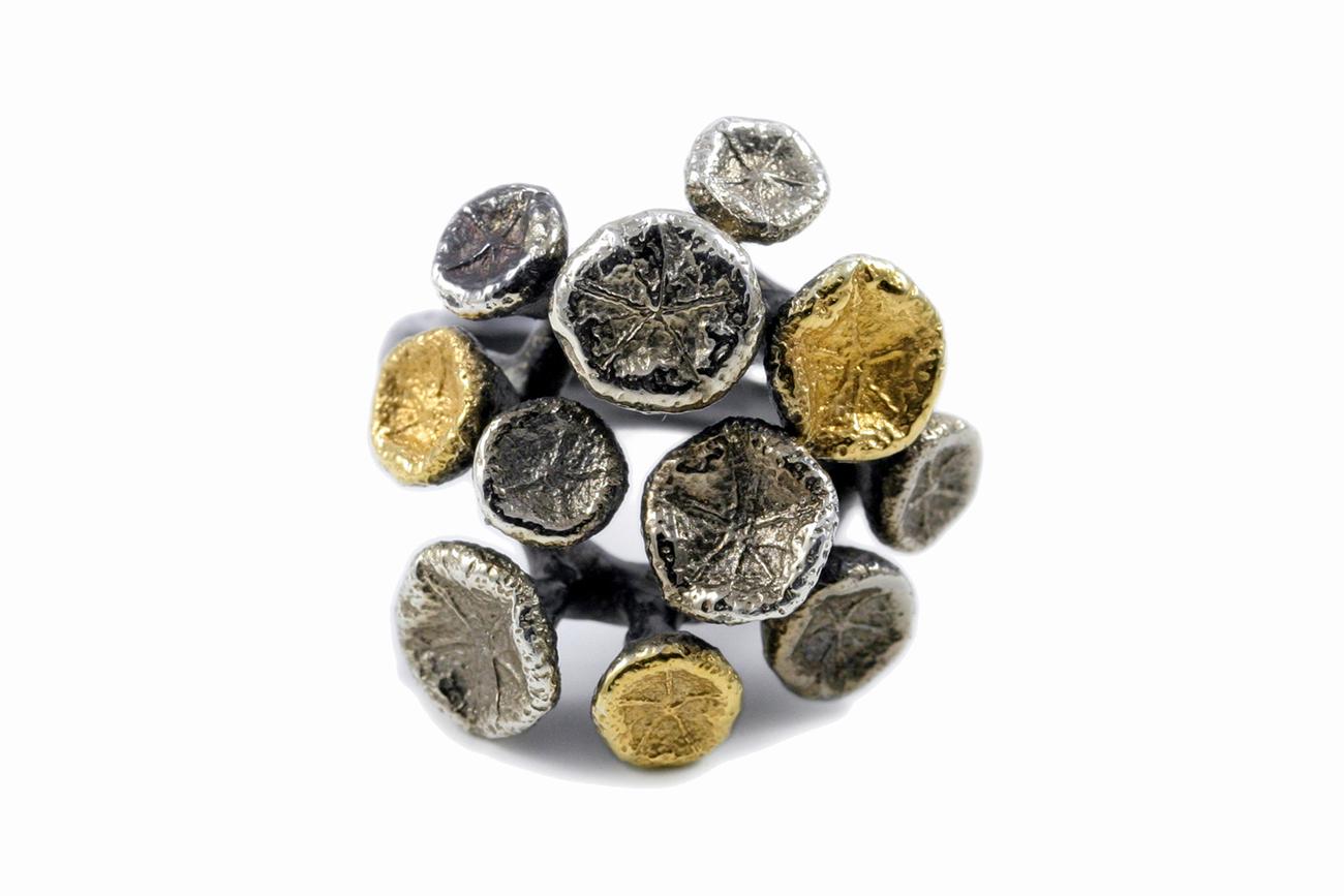 Tokyo Myriad Ring // Sterling silver, palladium and gold vermeil (2013)