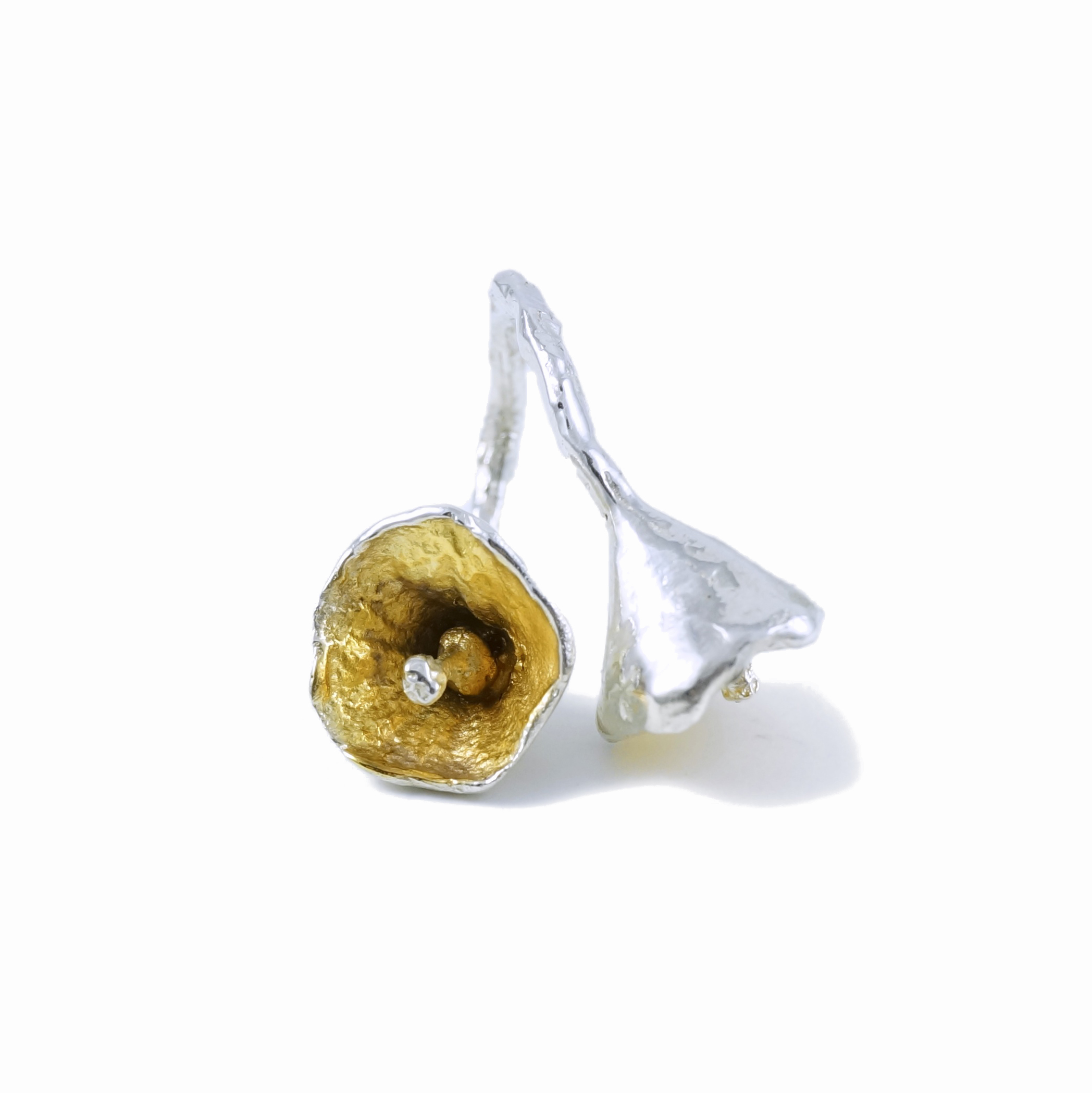 Tokyo Bells // solid Argentium Sterling Silver and Gold Vermeil (2013)