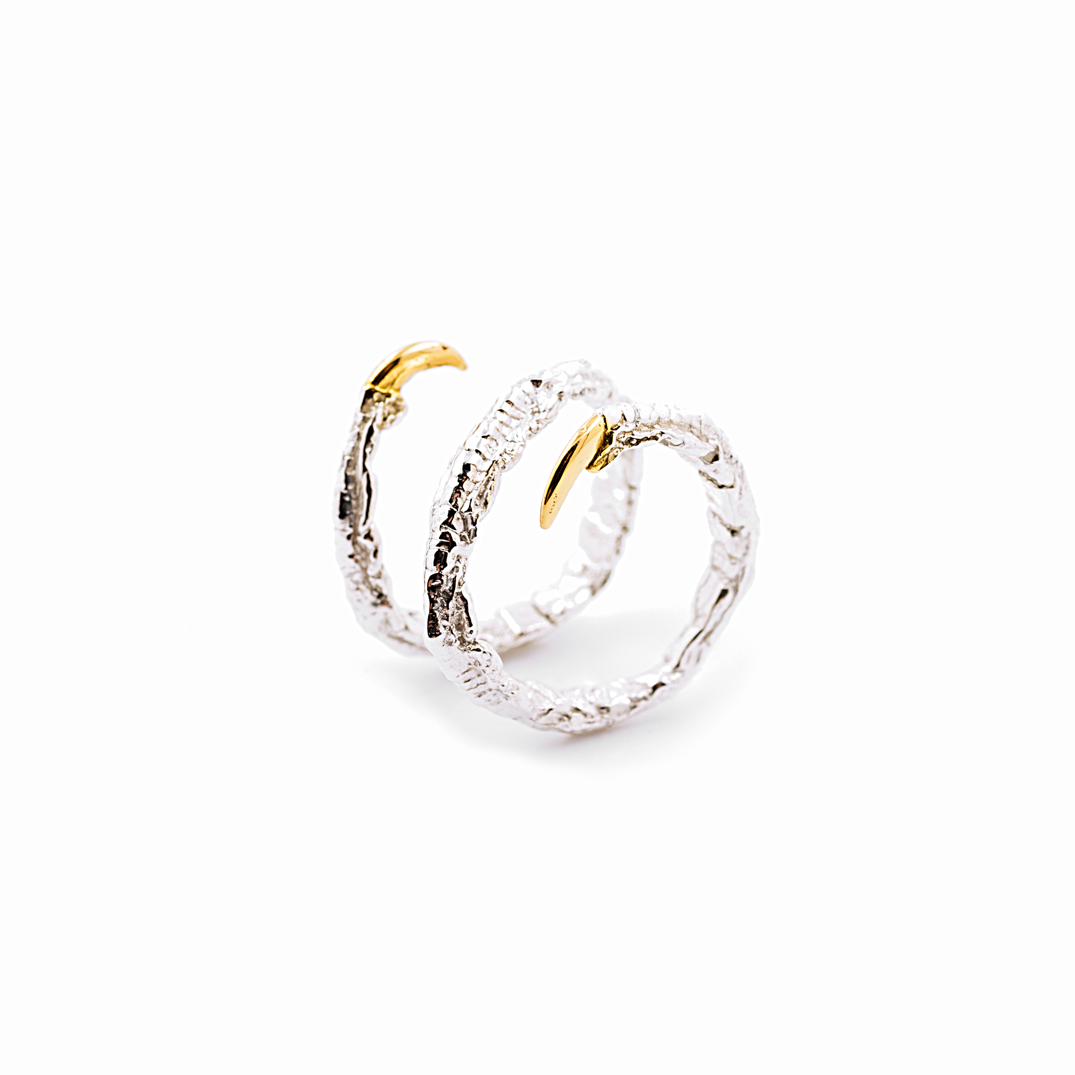 Twist Ring | Sterling silver, gold vermeil.
