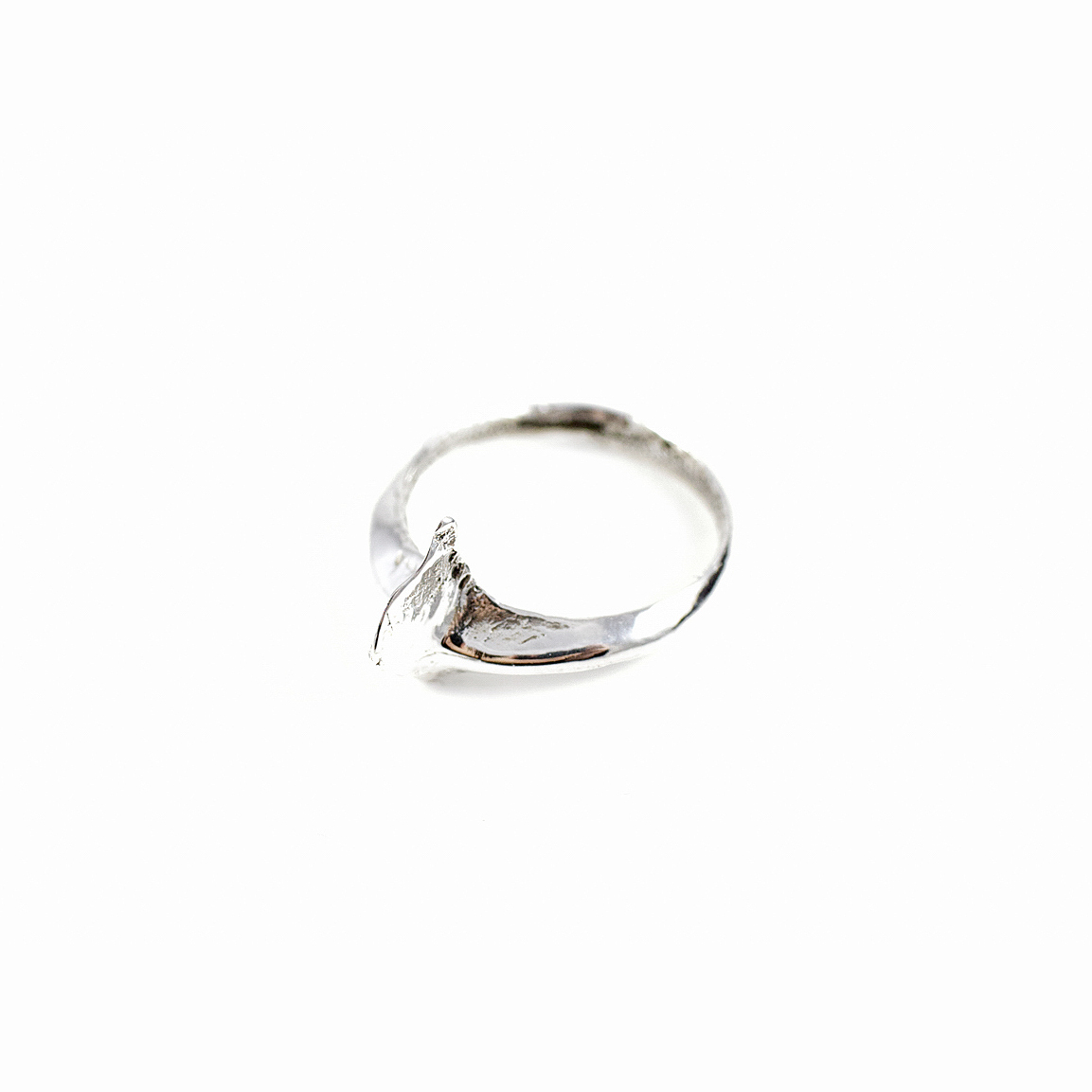 Wish Ring | Sterling silver, patina.