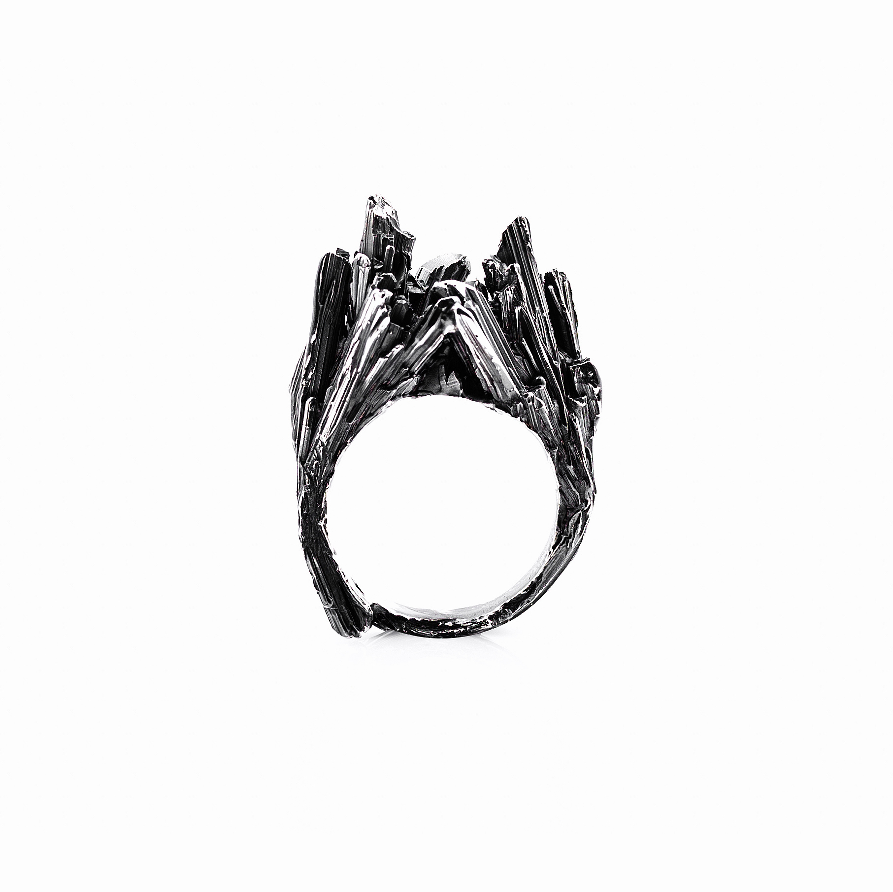 Namazu Ring | Oxidised sterling silver.