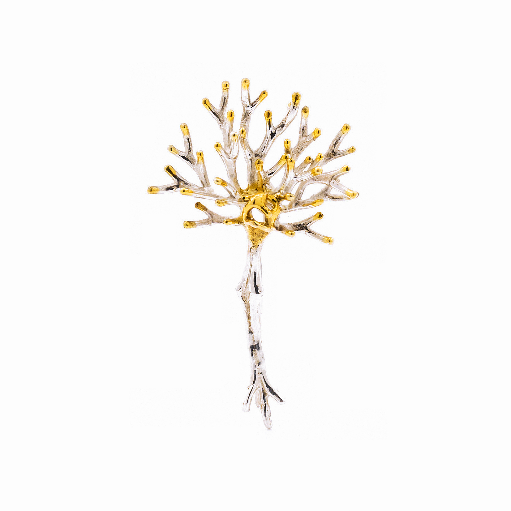 Neuron Pin | Sterling silver.