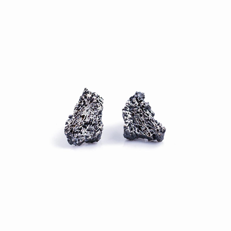 Fragment Earrings   Sterling silver.