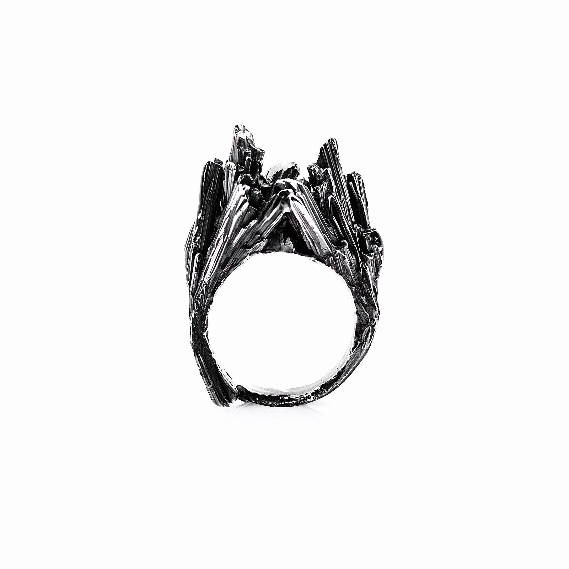 Namazu Ring   Sterling silver.