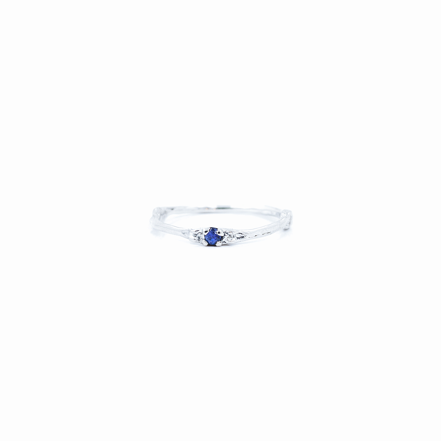 Towers Band | Sterling silver, blue sapphire.