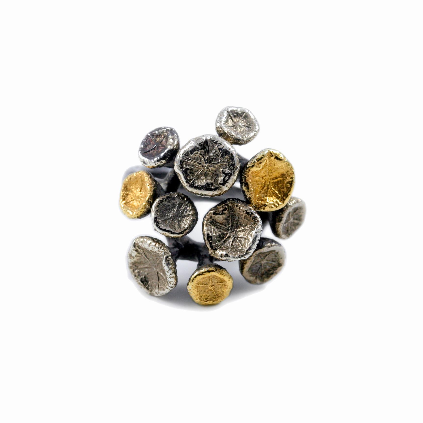 Myriad Ring | Sterling silver, gold vermeil.