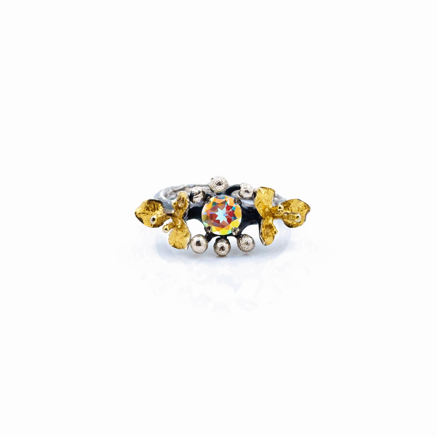 Dark November Ring |Sterling silver,gold vermeil.