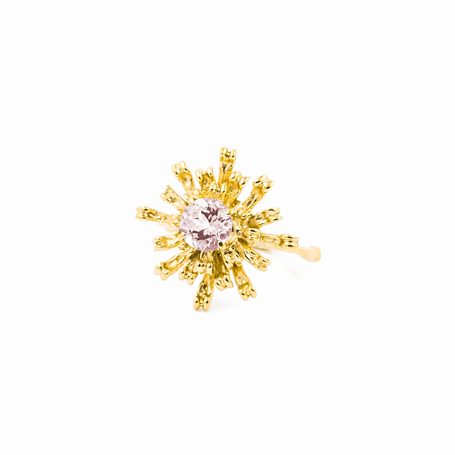The Flowers Remaining Ring | 18ct yellow gold, morganite.