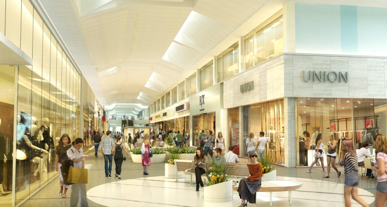 REMODELED MALL INTERIOR