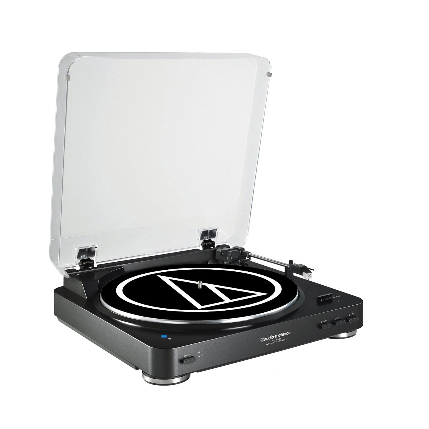 Audio Technica AT-LP60BK-BT Fully Automatic Bluetooth Wireless BeltDrive Stereo Turntable