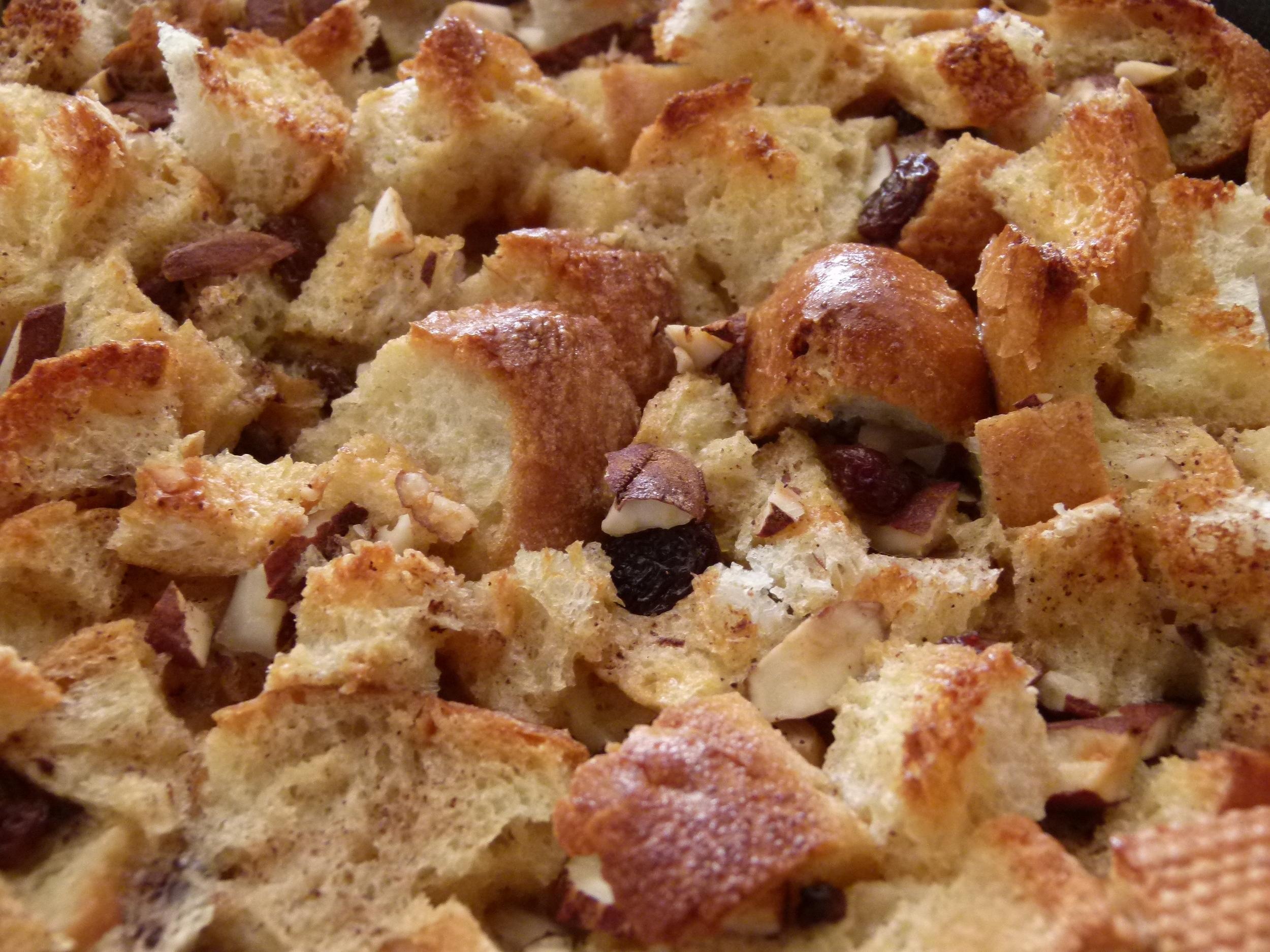 Pudding de pan con canela