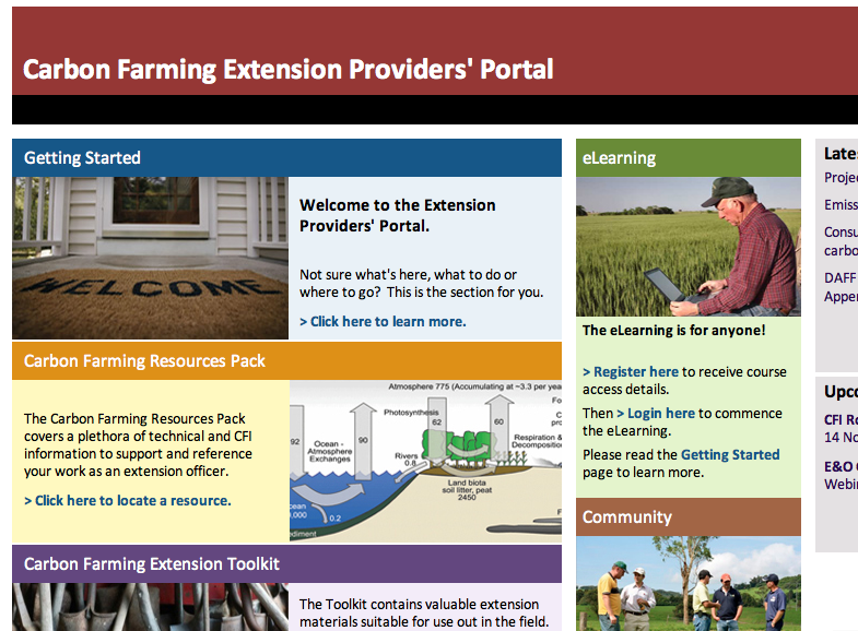 Carbon Farming Extension Providers' Portal