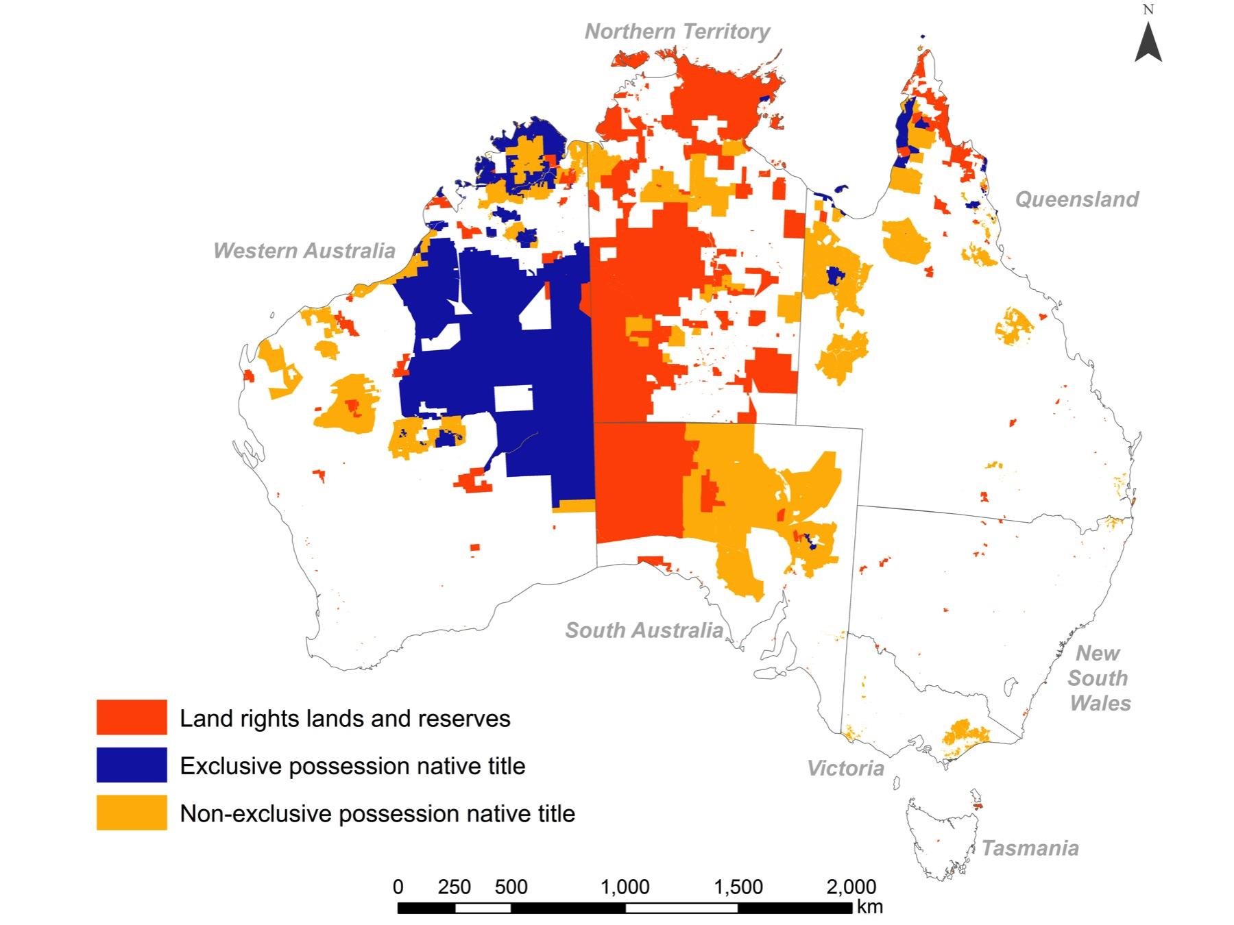 Altman and Markham map showing Aboriginal and Torres Strait Islander land in 2013
