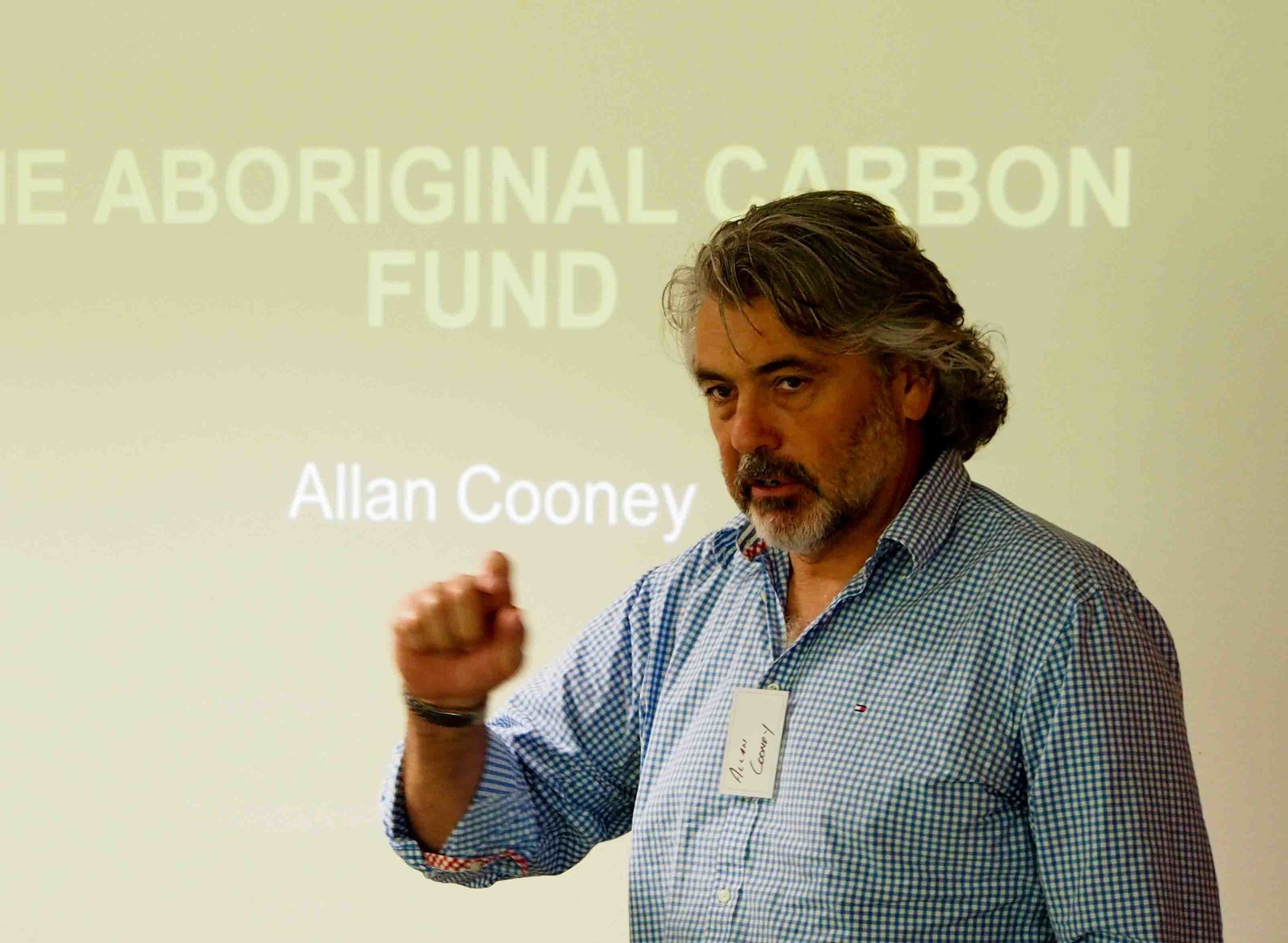 Allan Cooney, director and founder, telling the Aboriginal Carbon Fund story