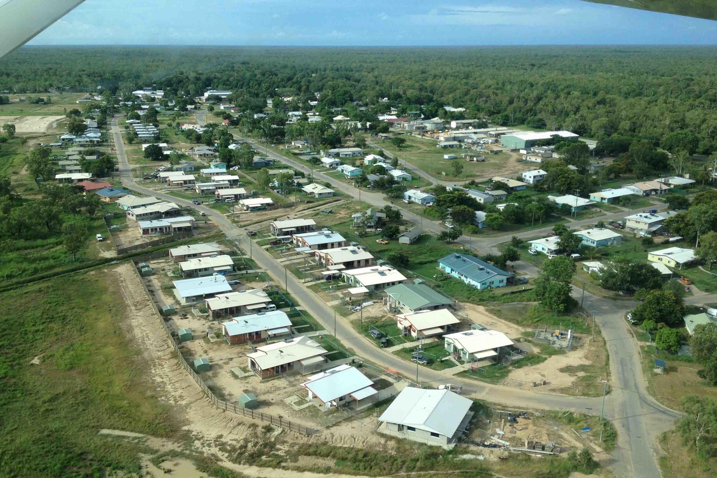 Kowanyama community: population about 1200