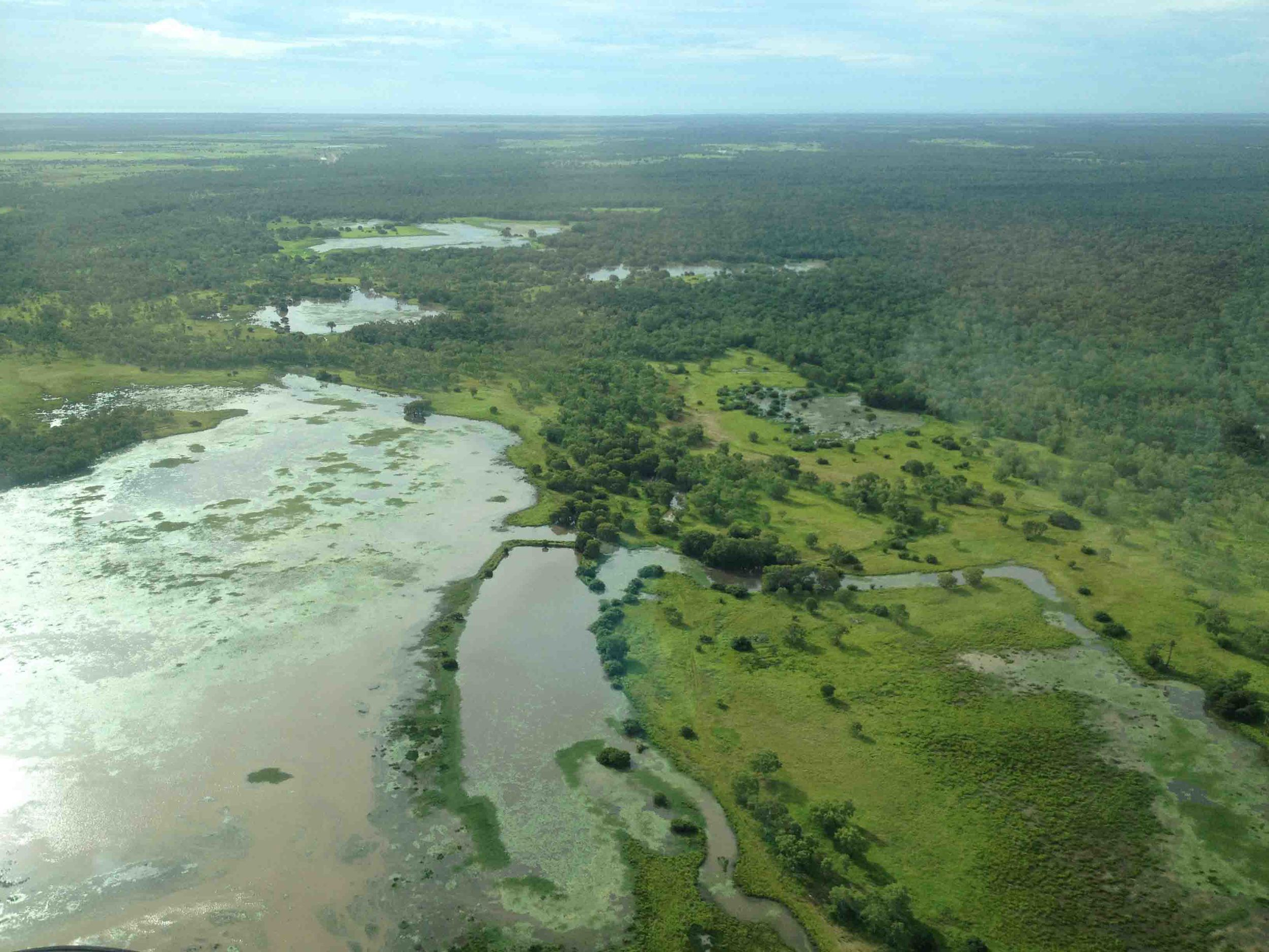 The Mitchell River delta is an impressive flood out zone