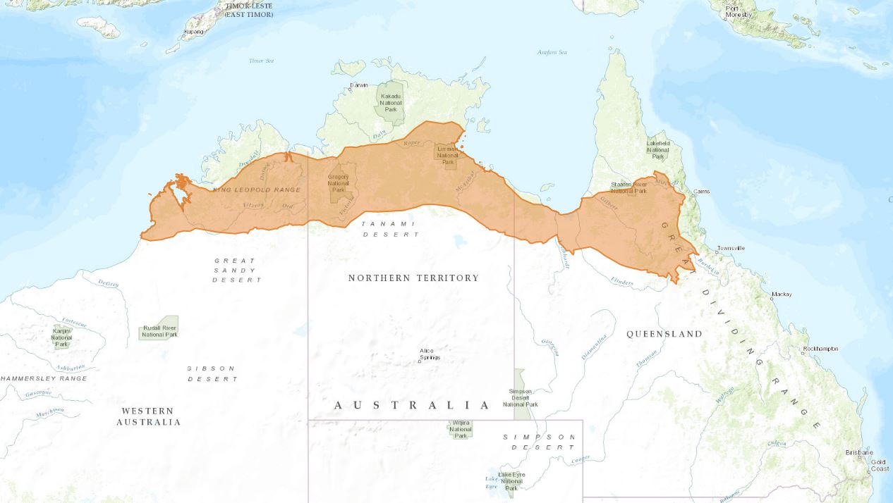 Shaded areas shows land receiving 600-1000mm rainfall annually. Source: Australian Government