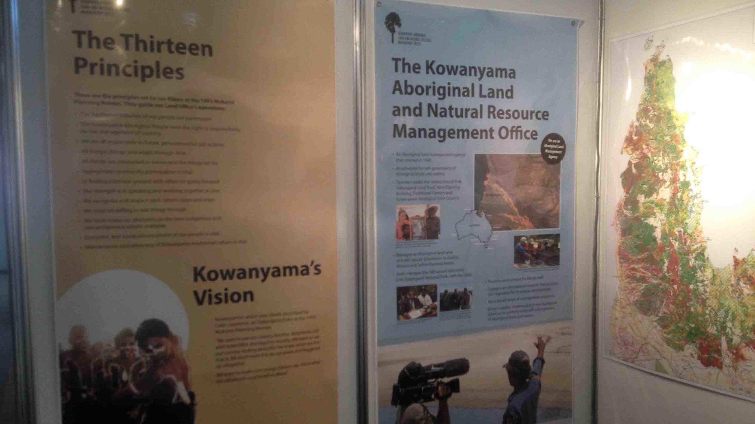 Kowanyama rangers and their swanky posters