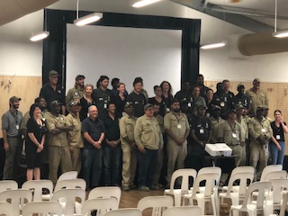 a handful of the Aboriginal Rangers who attended the forum