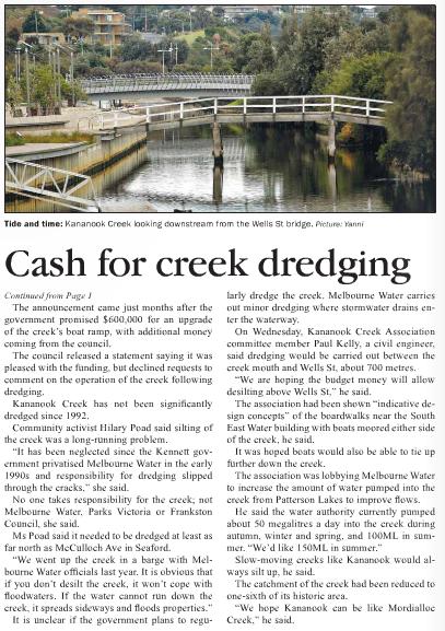 Frankston Times 23 May, 2013: page 4.