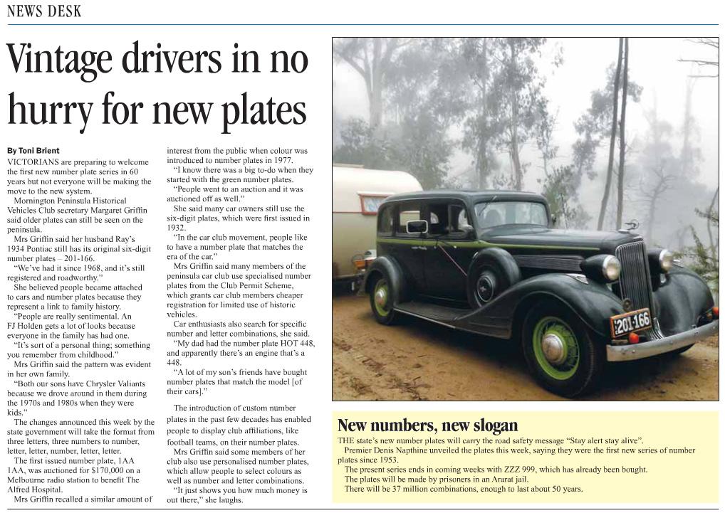 Published in Mornington News on 17 June, 2013.