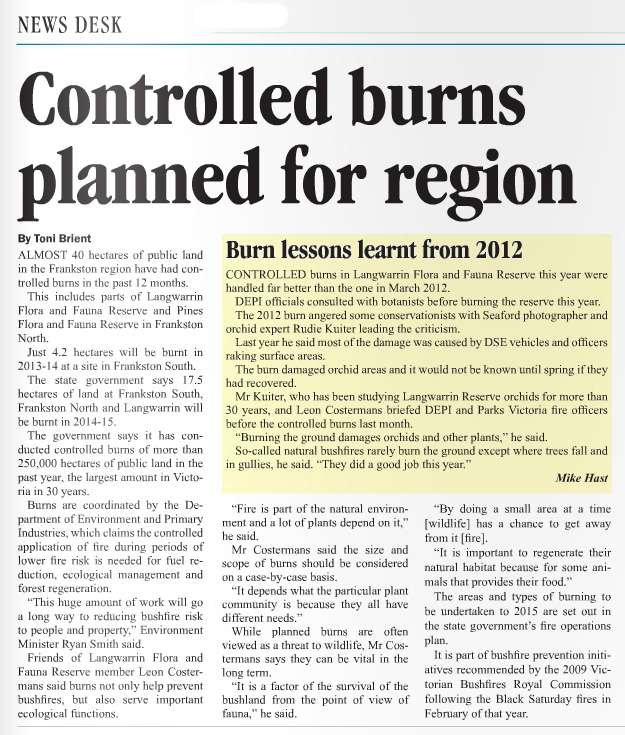 Published in Frankston Times on 21 June, 2013.