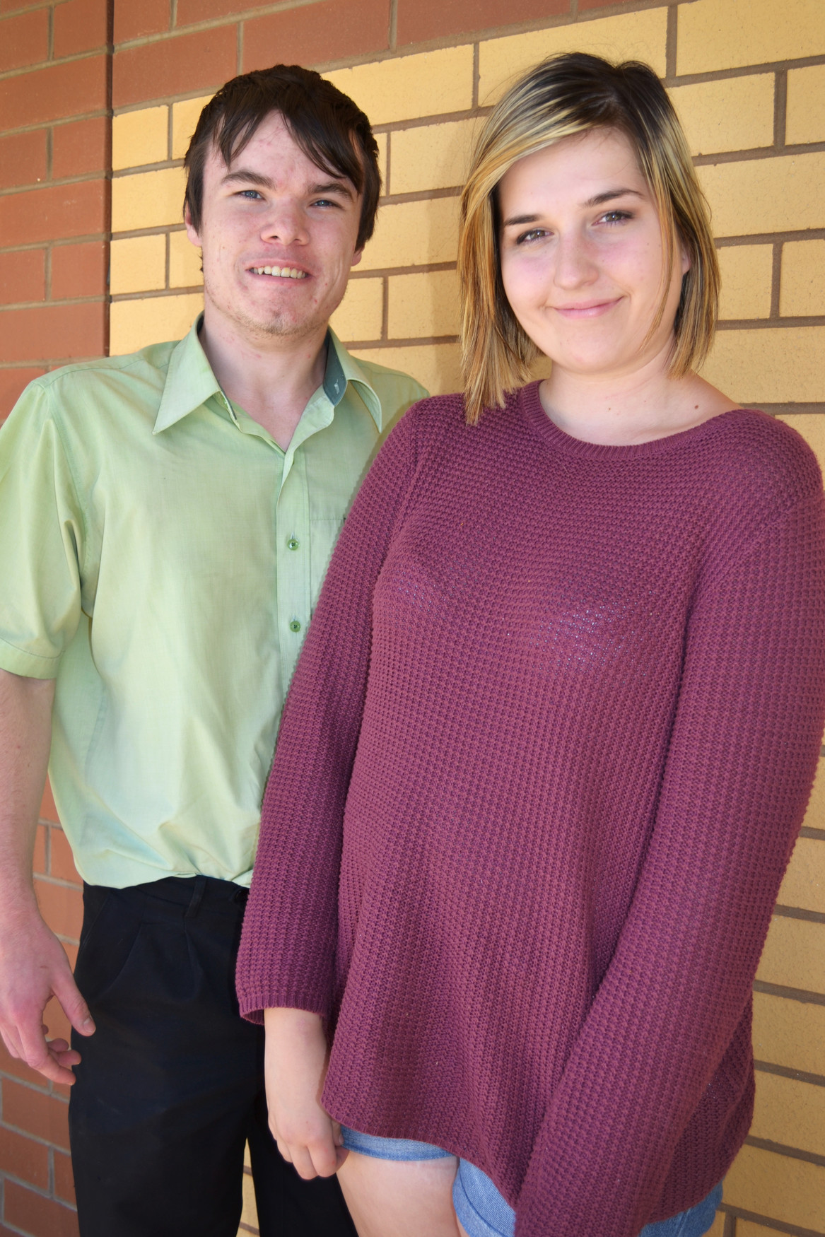 Future leaders: Long Tan Leadership and Teamwork Award recipients Jayden Beckwith and Katie Garth. Picture: Toni Brient.