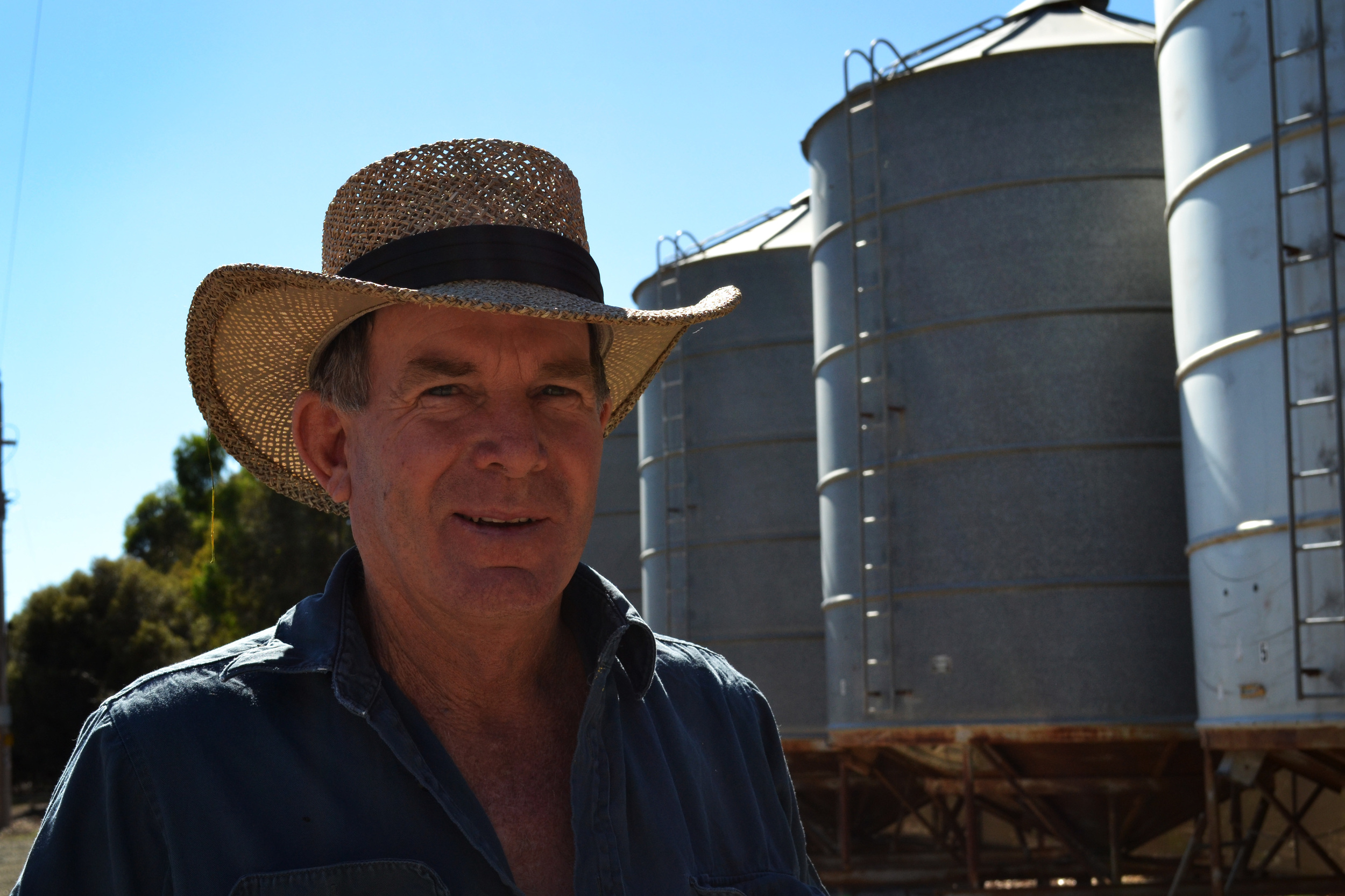 Harvest season: This year's harvest was disappointing for grain farmers like Burramine's Peter Lawless. Picture: Toni Brient.
