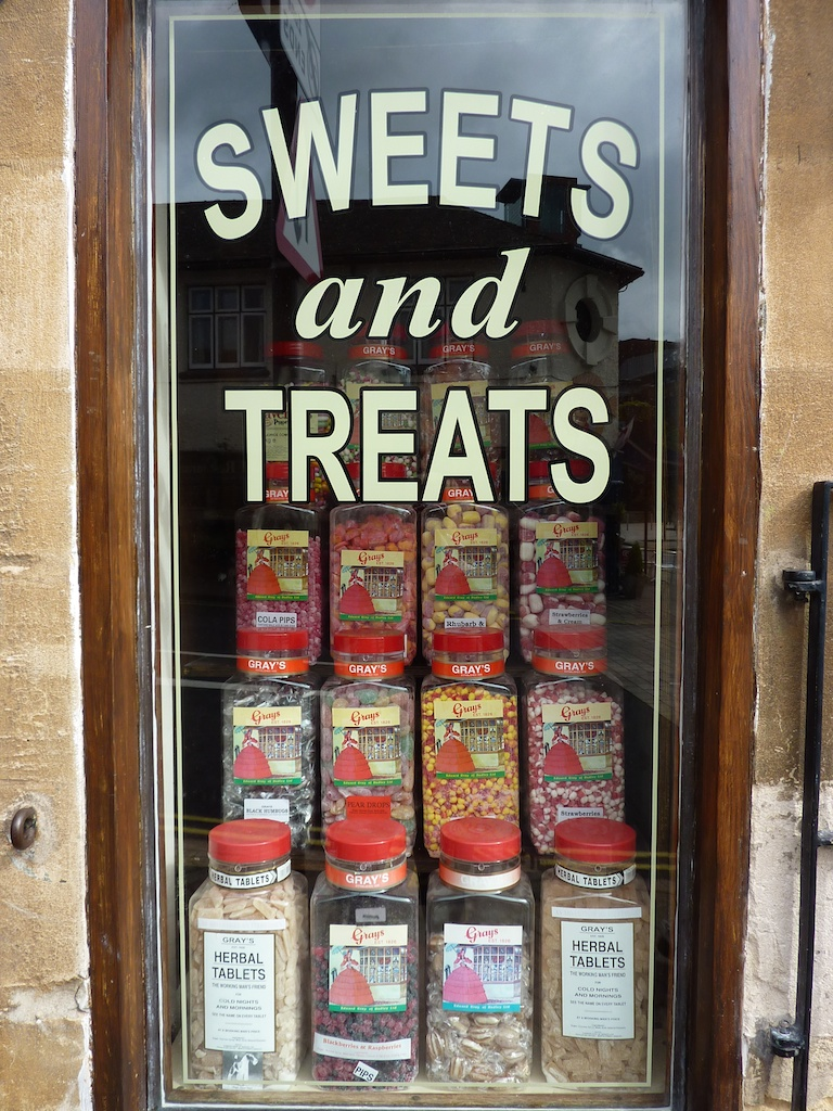 A sweet shop in a little village in the Midlands, England