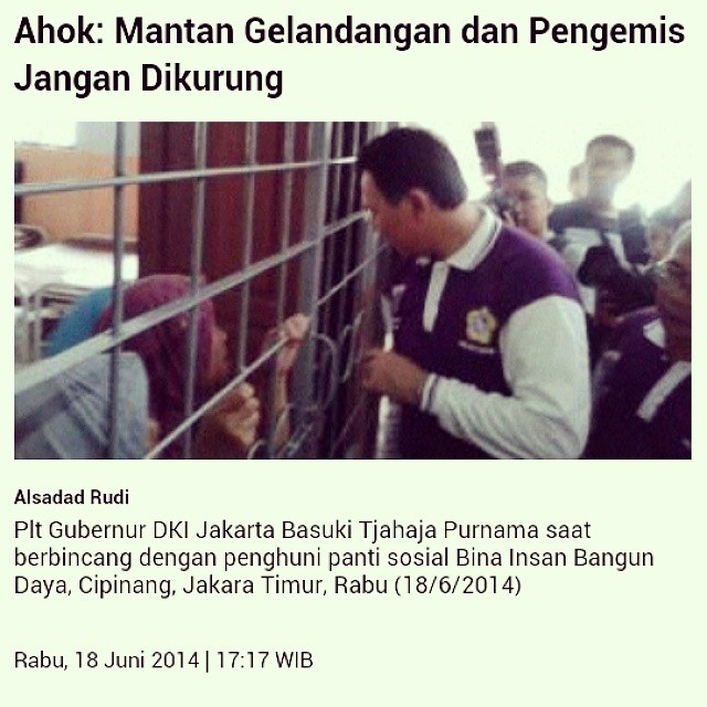 We heard this in #JALANAN #screening Mr.Ahok held in #city #hall earlier, yesterday he proved it. We are truly honored to be a part of the changes in #Jakarta :) News: http://t.co/XKduJ9CsYO