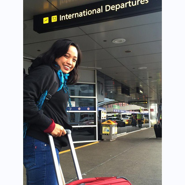 Bye for now, #Melbourne ! @Titijalanan on early #morning #flight  back to #indonesia today
