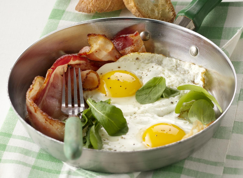 Sunny Side Up Eggs And Bacon | Tony Kubat Photography