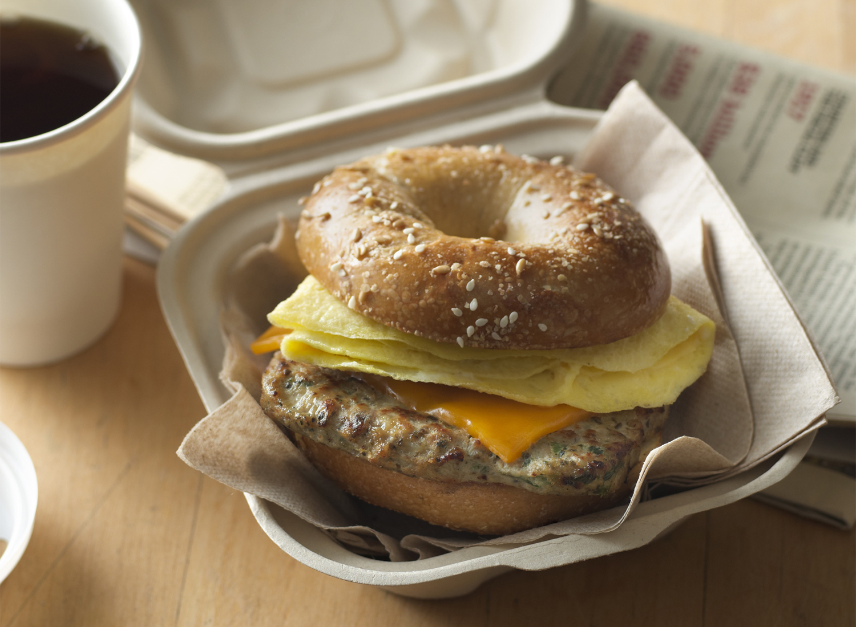 Turkey Egg Bagel Sandwich | Tony Kubat Photography