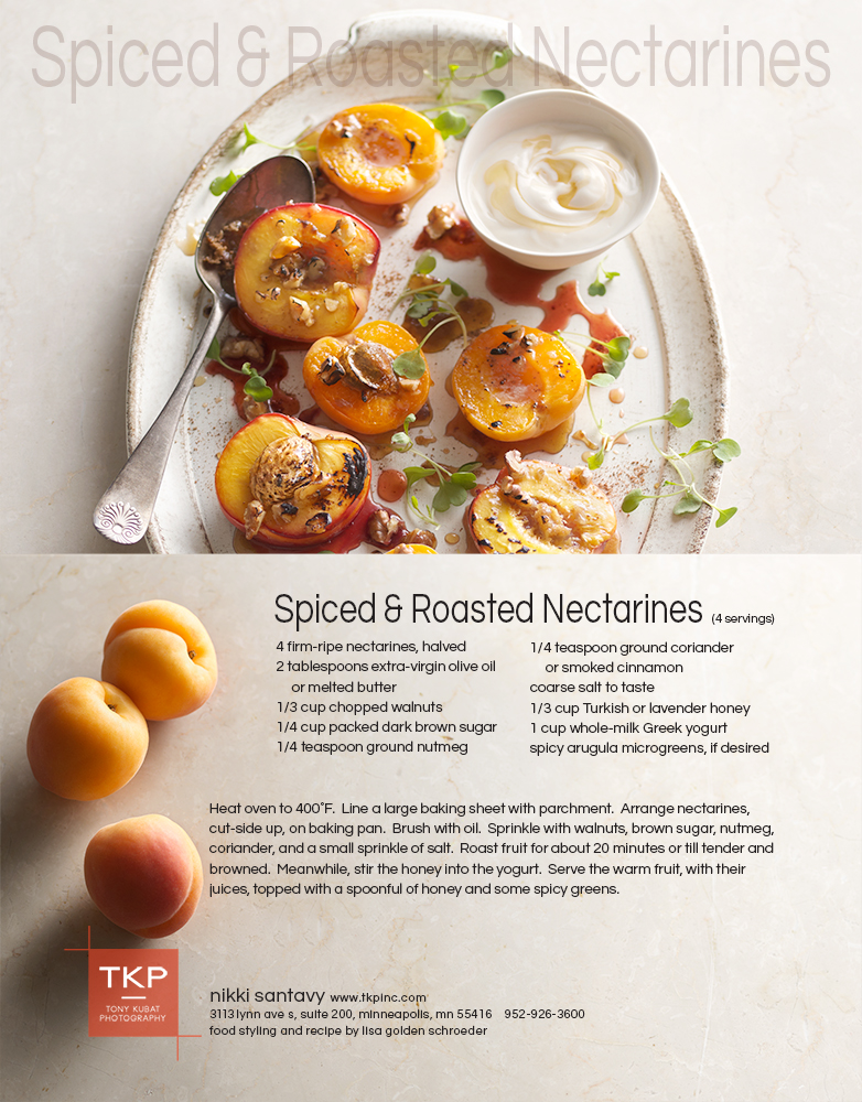 Spiced and Roasted Nectarines | Tony Kubat Photography