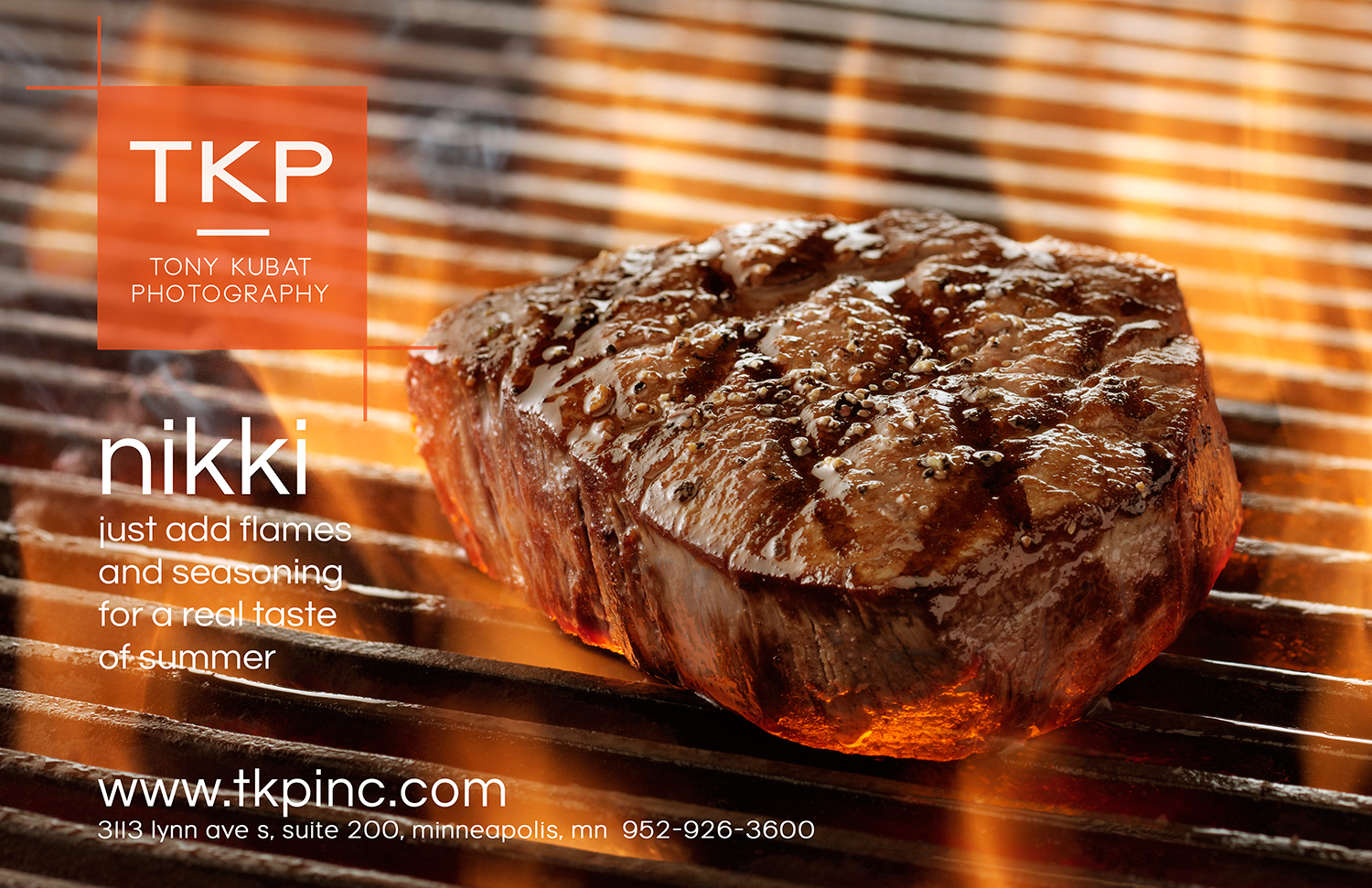 Flame Seared Summer Steak | Tony Kubat Photography