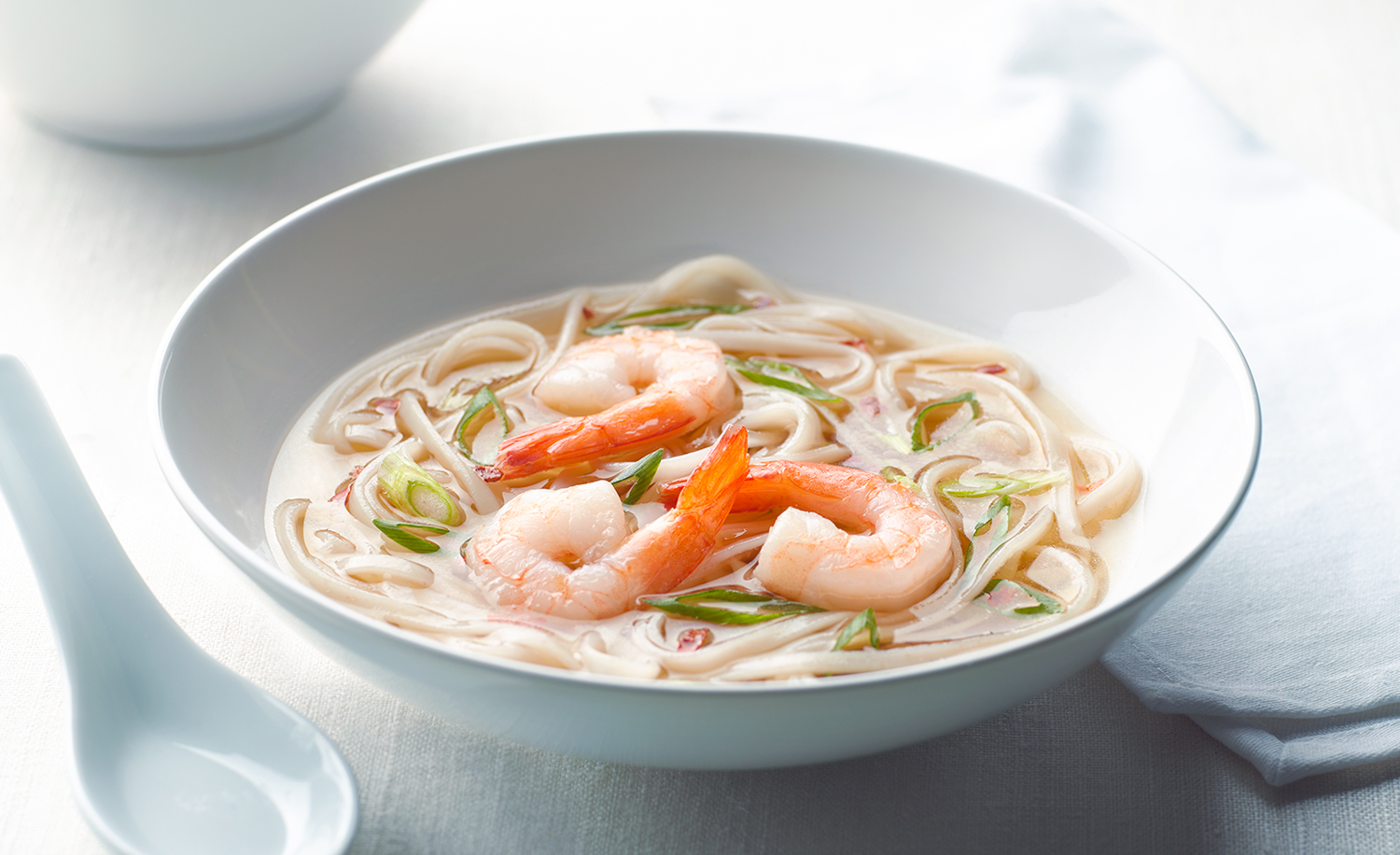 Asian Noodle Shrimp Soup | Tony Kubat Photography