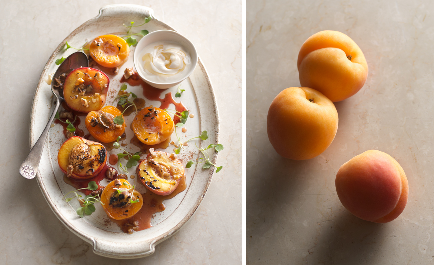 Spiced and Roasted Nectarines with Honey Yogurt | Tony Kubat Pho