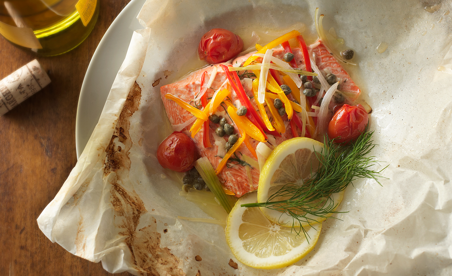 Salmon En Papillote | Tony Kubat Photography