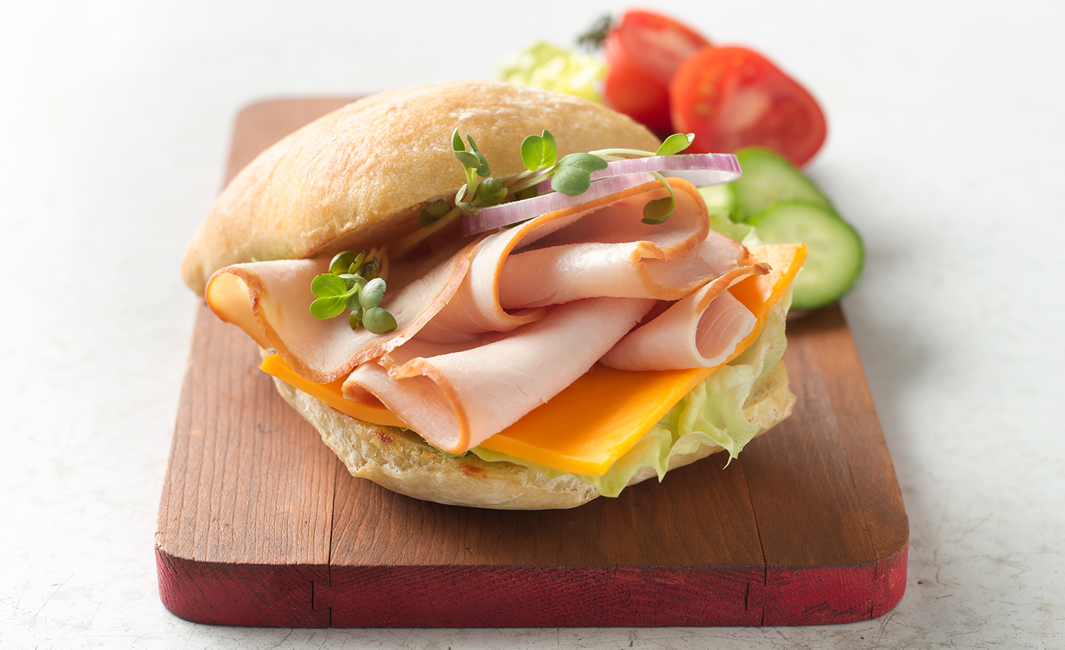 Sliced Turkey Sandwich | Tony Kubat Photography