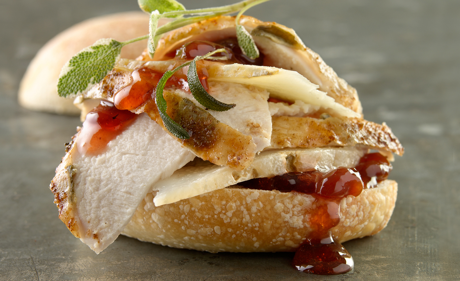 Carved Chicken Ciabatta Sandwich | Tony Kubat Photography