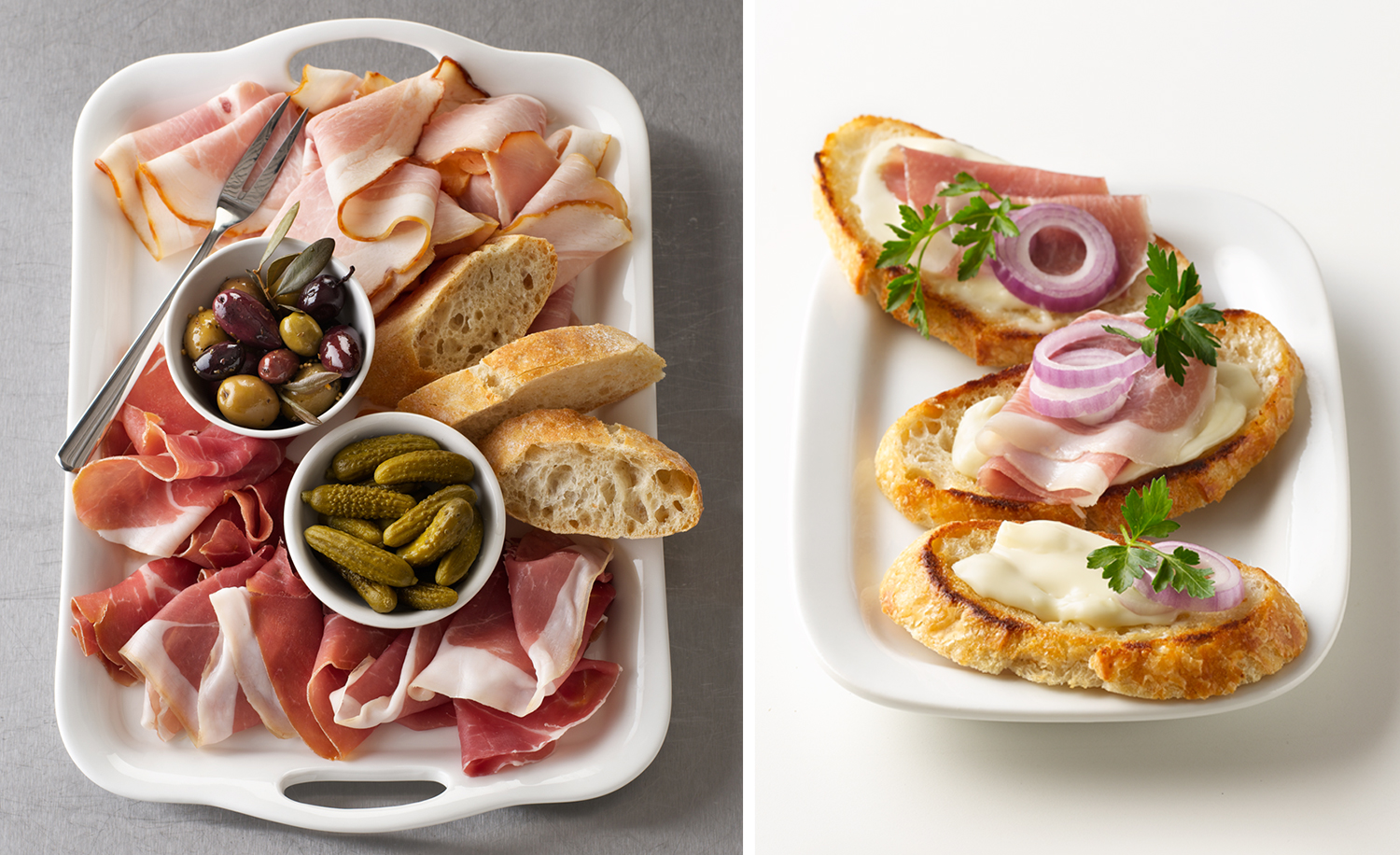 Deli Meat Platter And Crostini | Tony Kubat Photography