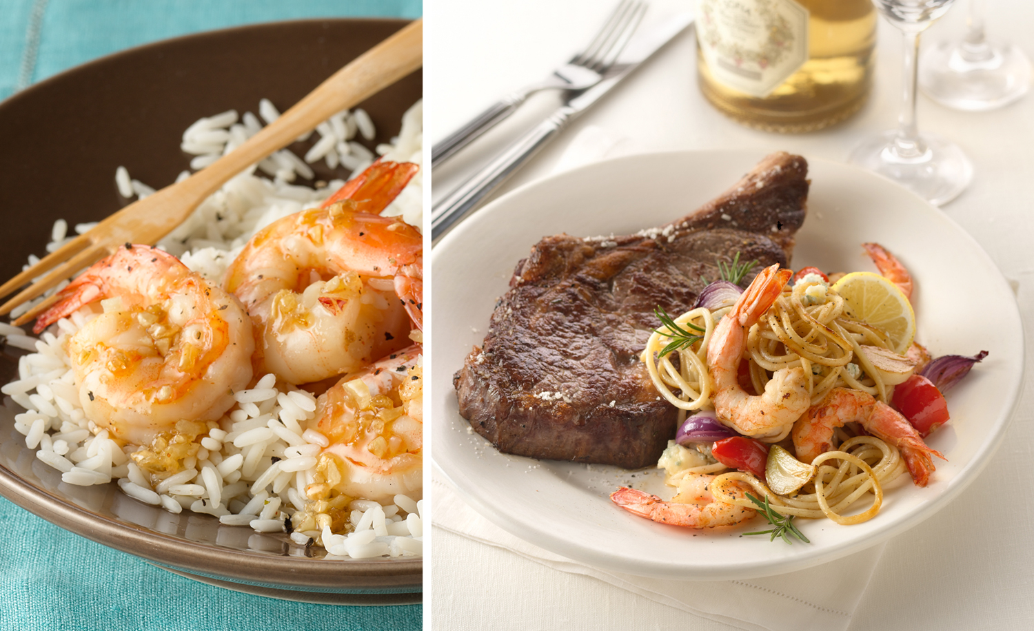 Shrimp and Steak | Tony Kubat Photography