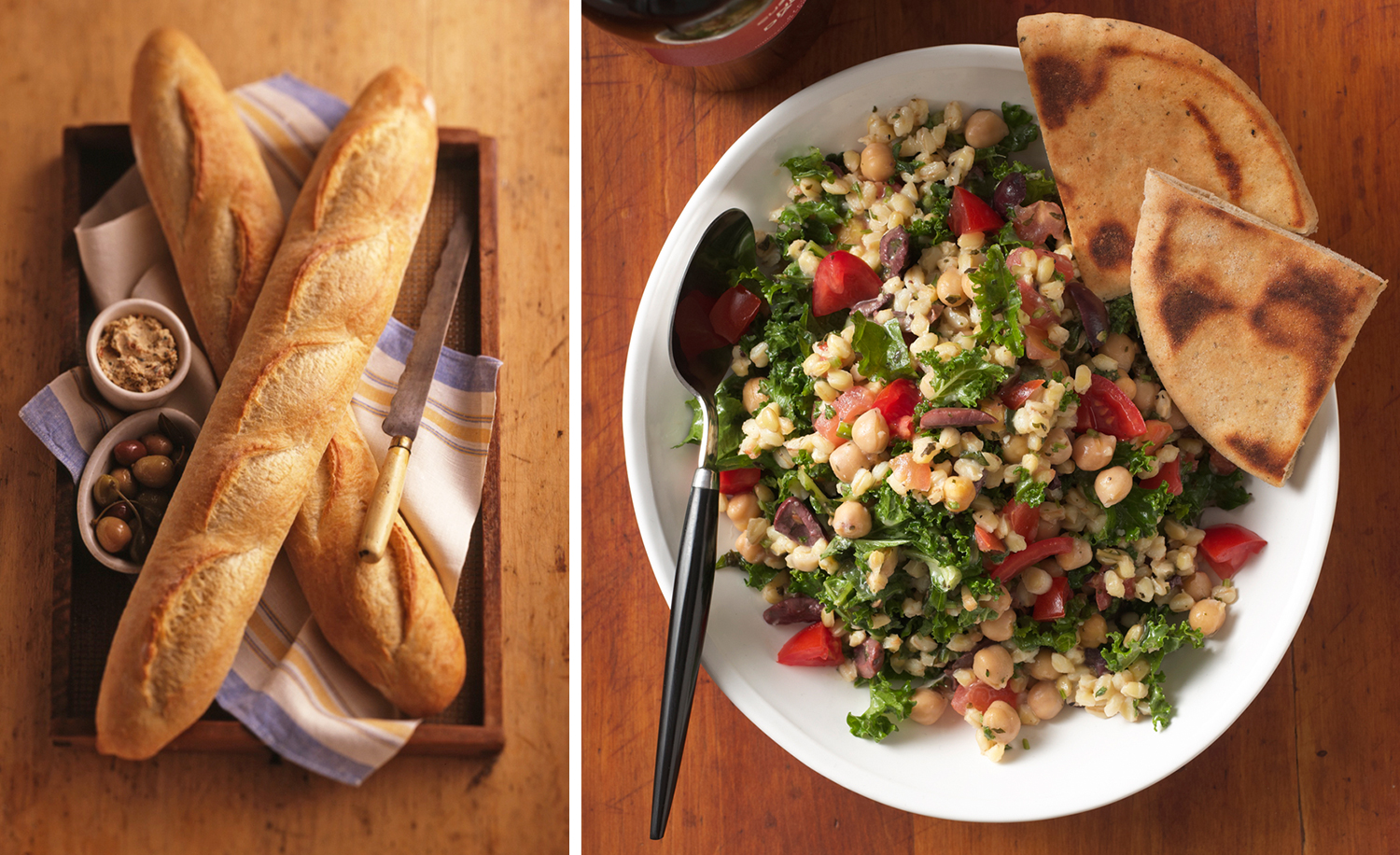 Baguette And Chick Pea Salad | Tony Kubat Photography