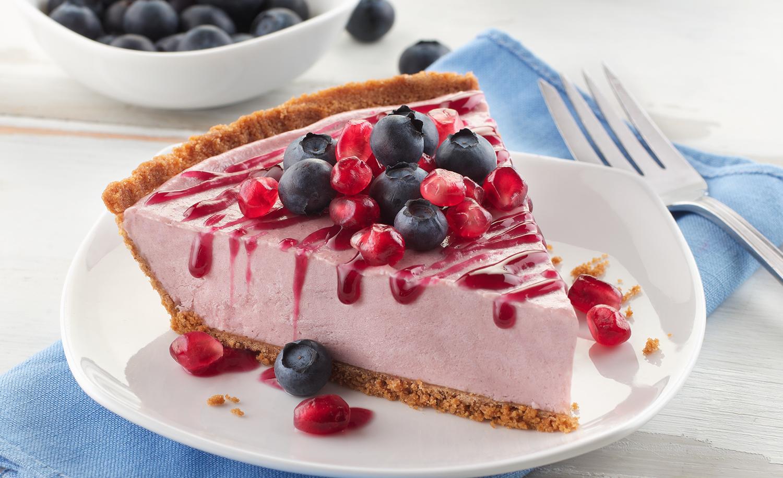 Blueberry Pomegranate Cheesecake | Tony Kubat Photography