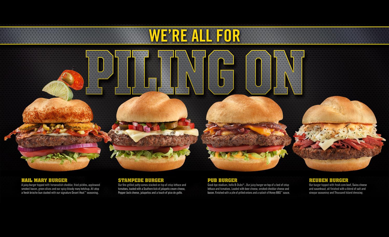 Buffalo Wild WIngs Burgers Ad   Tony Kubat Photography