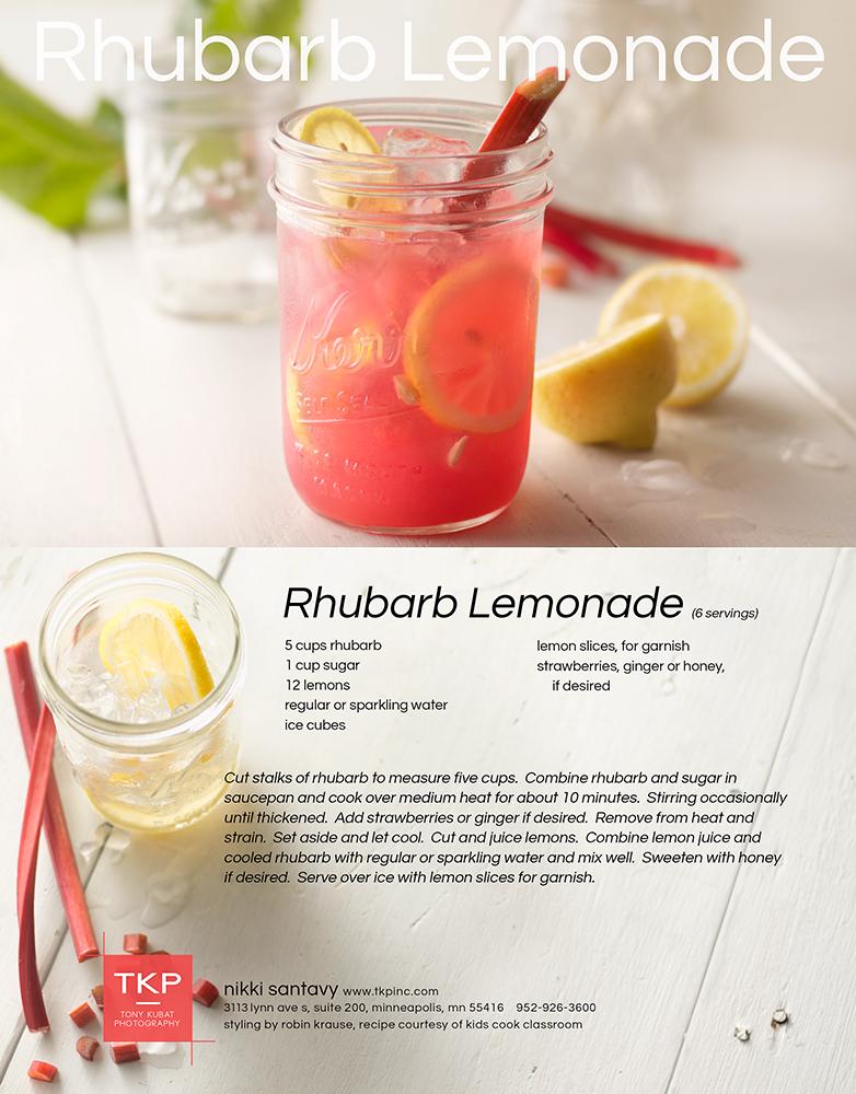Rhubarb Lemonade | Tony Kubat Photography
