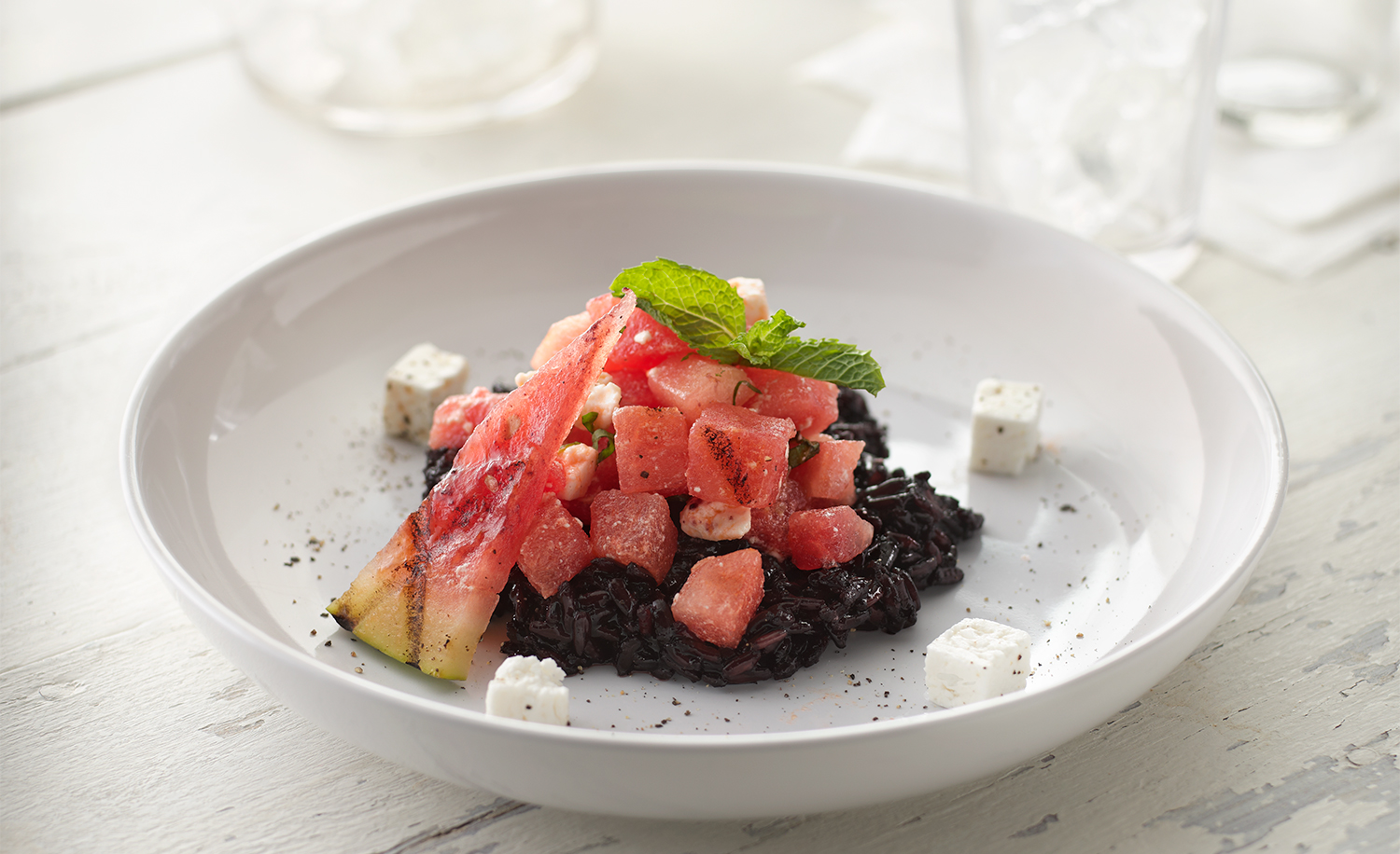 Grilled Watermellon and Black Rice Salad | Tony Kubat Photograph