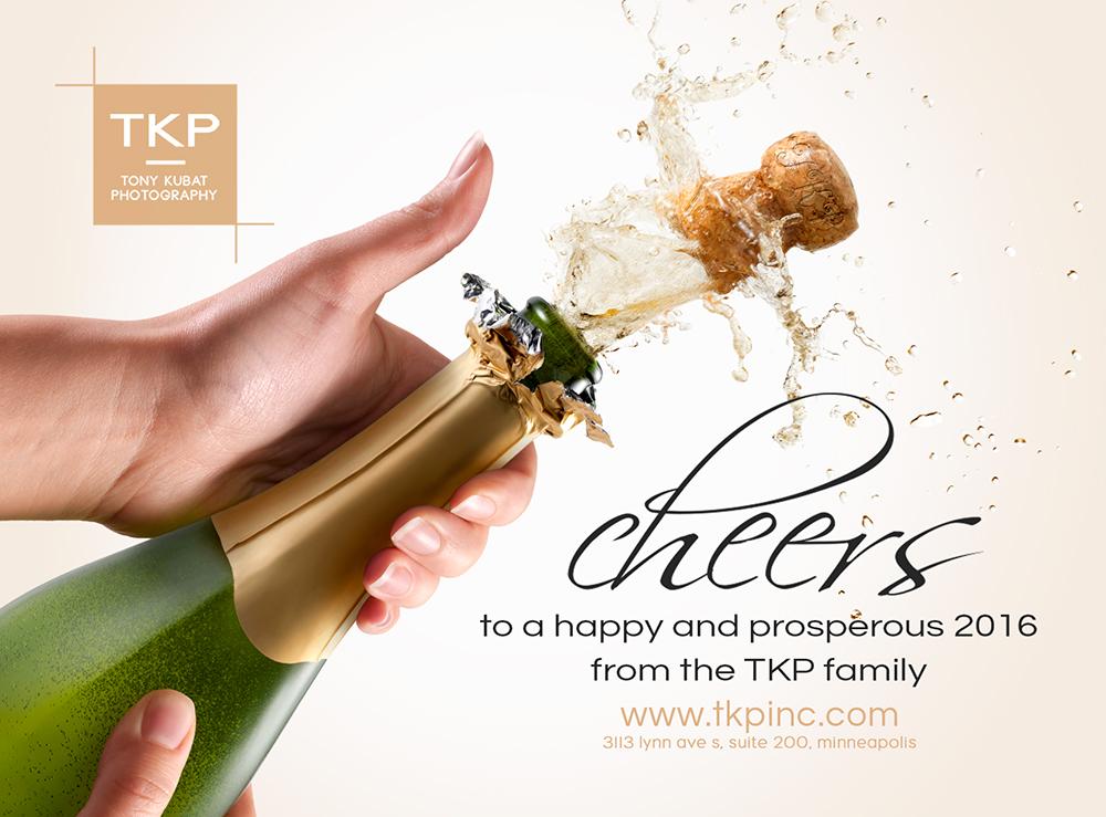 New Year Champagne Pop | Tony Kubat Photography