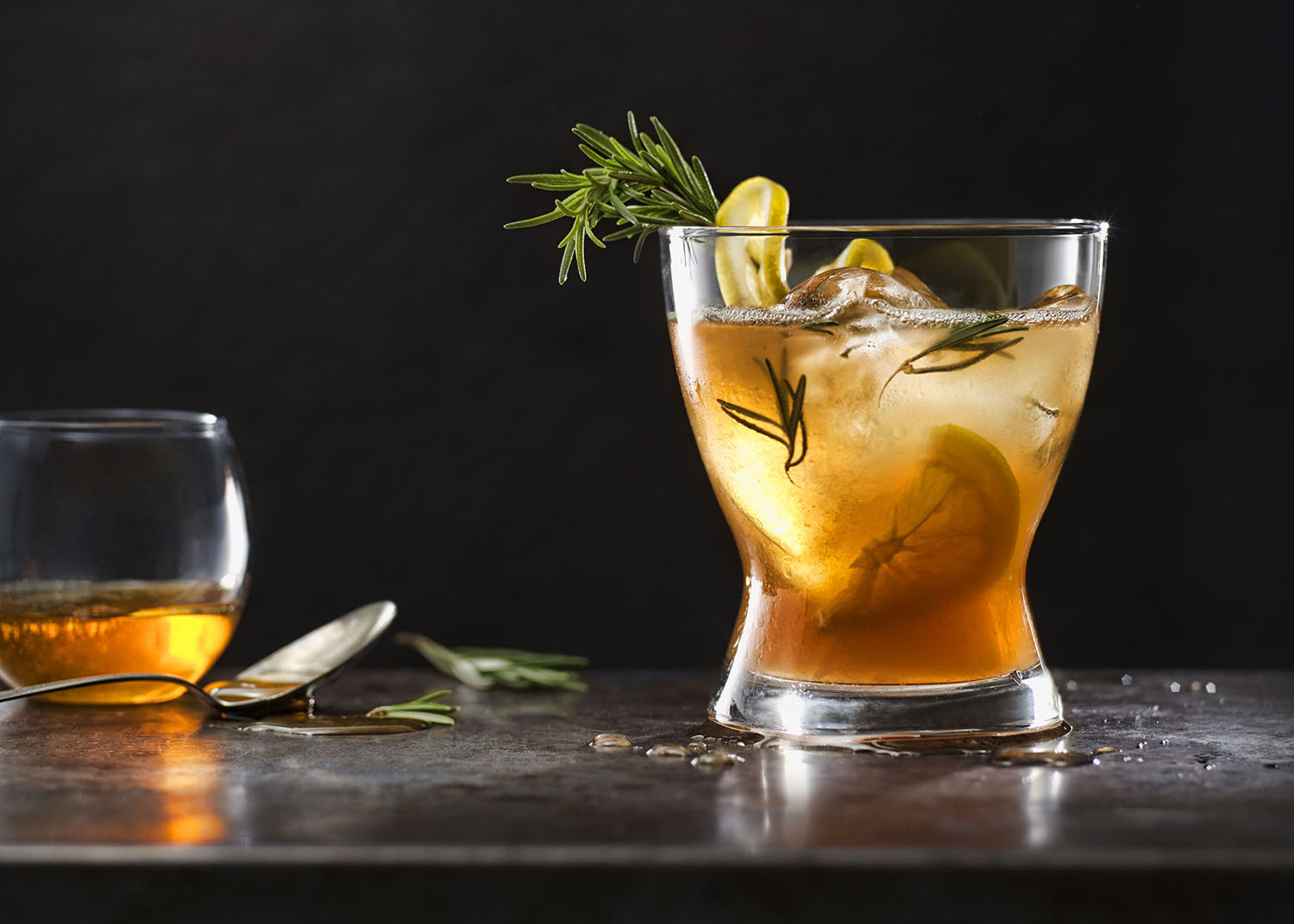 Rosemary Honey Old Fashioned